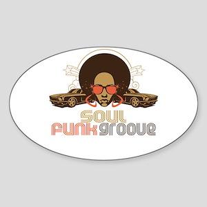 Soul Funk Groove Oval Sticker