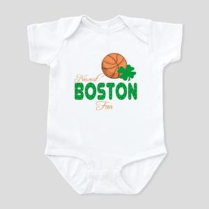 Newest Boston Basketball Fan Baby Infant Bodysuit