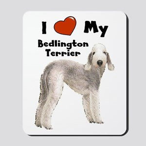 I Love My Bedlington Terrier Mousepad