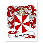Lamoureux Family Crest Small Poster