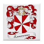 Lamoureux Family Crest Tile Coaster