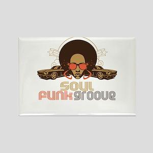 Soul Funk Groove Rectangle Magnet
