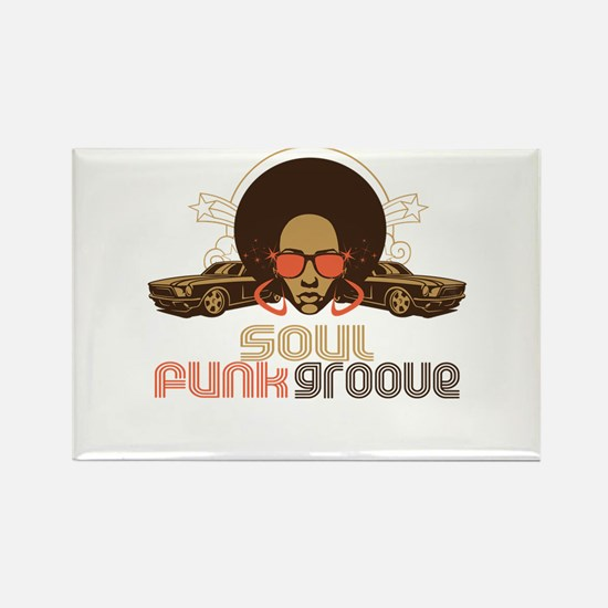 Soul Funk Groove Rectangle Magnet