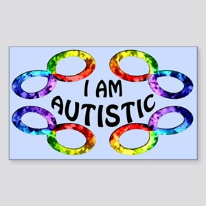 I Am Autistic Rectangle Sticker
