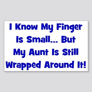 Aunt Wrapped Around Finger - Rectangle Sticker