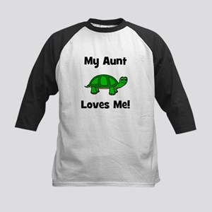 My Aunt Loves Me! Turtle Kids Baseball Jersey
