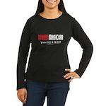 Wanna See a Trick? Women's Long Sleeve Dark T-Shir
