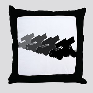 Sprintcars-4abreast Throw Pillow