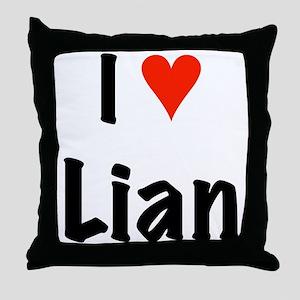 I love Lian Throw Pillow