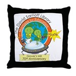 Martians for Education Throw Pillow