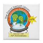Martians for Education Tile Coaster