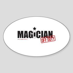 Magician Off Duty Oval Sticker