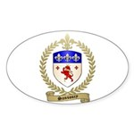 SANSOUCY Family Crest Oval Sticker (50 pk)