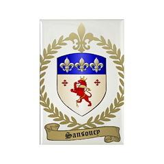 SANSOUCY Family Crest Rectangle Magnet (100 pack)