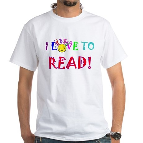 Love to Read White T-Shirt