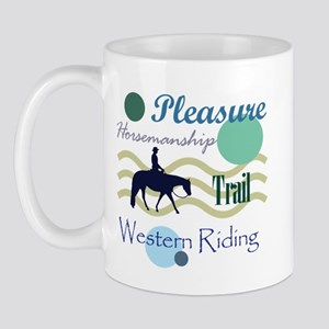 Western All Around in Blue Mug