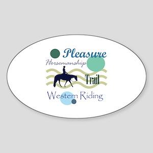 Western All Around in Blue Oval Sticker