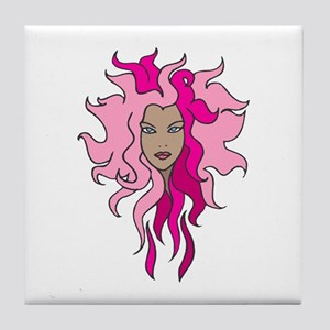 Witchy Woman - Pink Tile Coaster