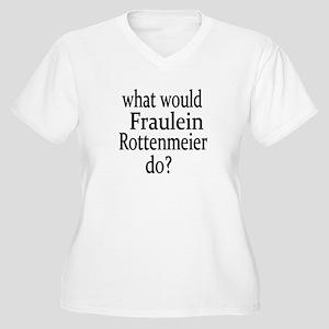 Fraulein Rottenmeier Women's Plus Size V-Neck T-Sh