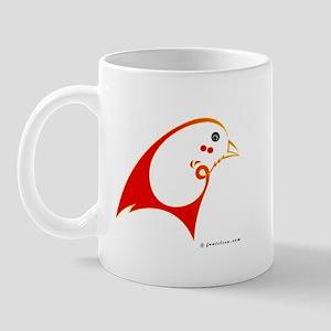 Eshgh (Love) Red Bird Mug