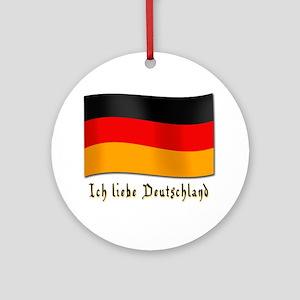 Ich liebe Deutschland Ornament (Round)
