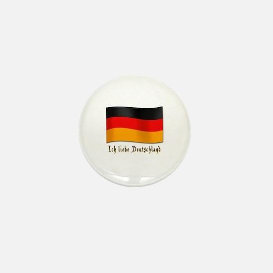 Ich liebe Deutschland Mini Button
