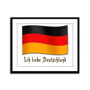 Ich liebe Deutschland Framed Panel Print