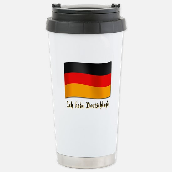 Ich liebe Deutschland Stainless Steel Travel Mug