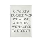 Tangled Web Rectangle Magnet (100 pack)