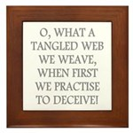 Tangled Web Framed Tile