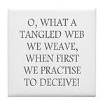 Tangled Web Tile Coaster