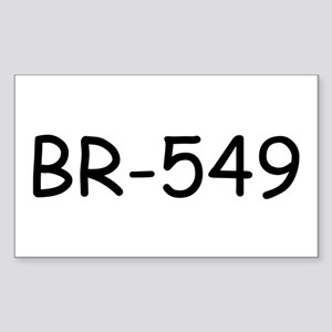 BR-549 Rectangle Sticker