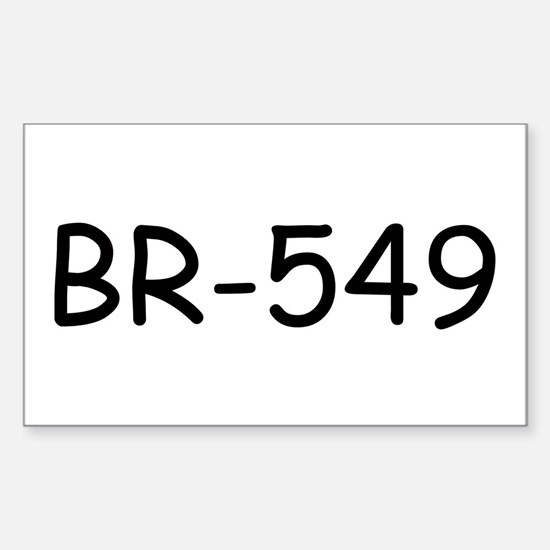 BR-549 Rectangle Decal