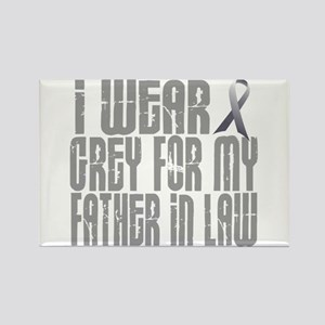 I Wear Grey For My Father-In-Law 16 Rectangle Magn