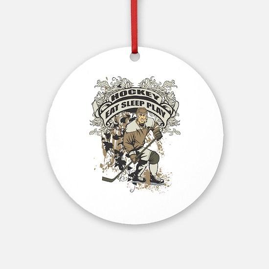 Eat, Sleep, Play Hockey Ornament (Round)