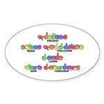 Prevent Noise Pollution CC Oval Sticker (50 pk)