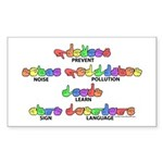 Prevent Noise Pollution CC Rectangle Sticker 10 p