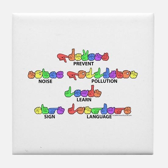 Prevent Noise Pollution CC Tile Coaster