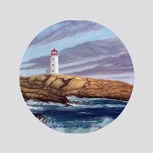"Peggy's Cove Lighthouse 3.5"" Button"