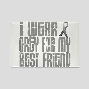 I Wear Grey For My Best Friend 16 Rectangle Magnet