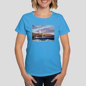 Peggy's Cove Lighthouse Women's Dark T-Shirt