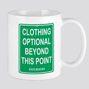 clothing Optional funny sign Mug