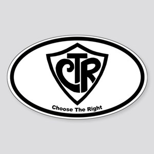 "CTR ""Choose the Right"" Oval Sticker"
