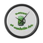 Happy St. Pat's Large Wall Clock