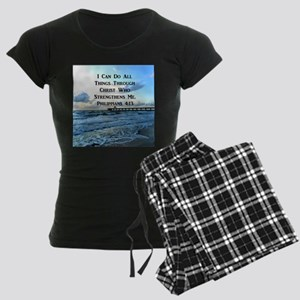 PHIL 4:13 VERSE Women's Dark Pajamas