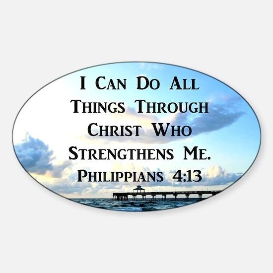 PHIL 4:13 VERSE Sticker (Oval)