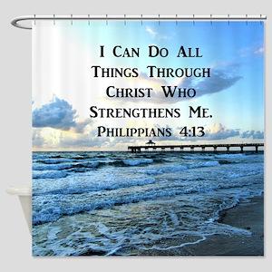 PHIL 4:13 VERSE Shower Curtain
