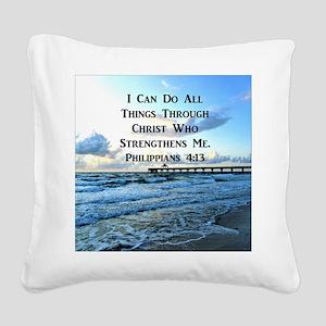 PHIL 4:13 VERSE Square Canvas Pillow