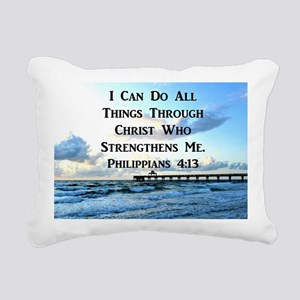 PHIL 4:13 VERSE Rectangular Canvas Pillow