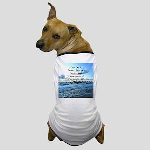 PHIL 4:13 VERSE Dog T-Shirt